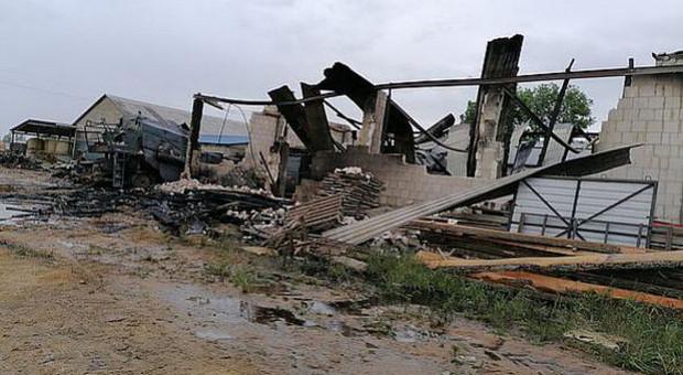 W pożarze spłonęły maszyny i budynki - ogromne straty