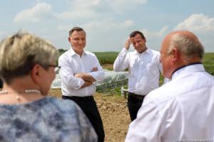 Prezydent odwiedził gospodarstwo Bardowskich