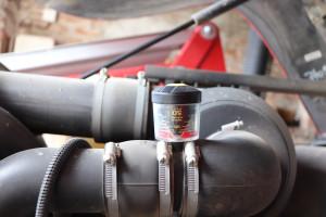 Mechaniczny wskaźnik zabrudzenia filtra pozwala zweryfikować stan filtra bez konieczności wyciągania go