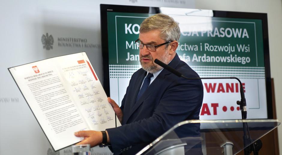 Ardanowski: Rolnictwo jest w dobrych rękach