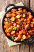 Kurczak z warzywami  w sosie z granatów