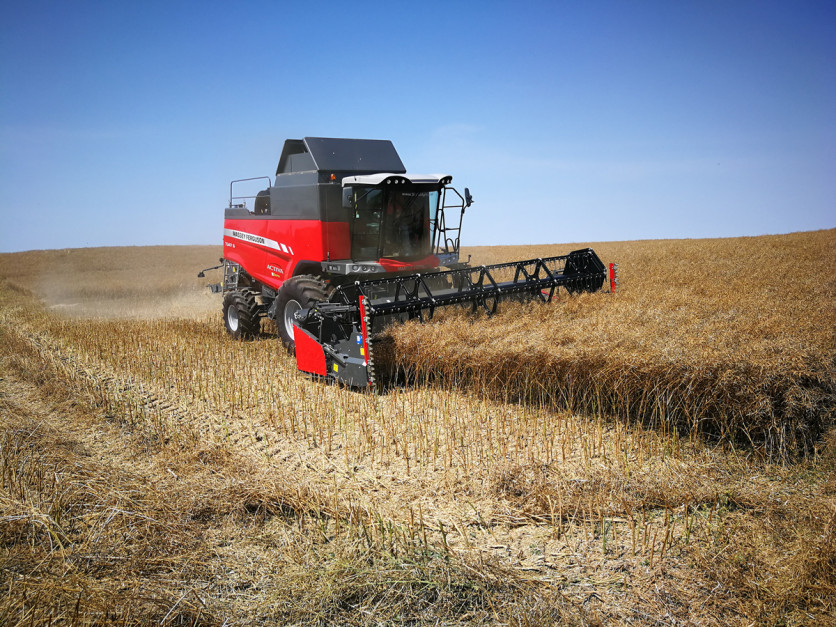 Kombajn Massey Ferguson Activa S jest maszyną uniwersalną, która sprawdzi się podczas zbiorów wszystkich gatunków roślin