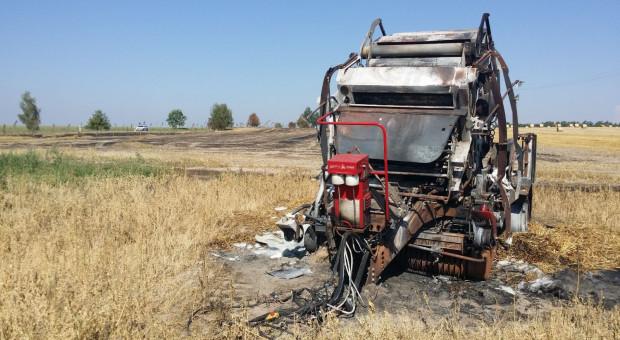 Pożar kombajnu lub prasy - jak do tego nie dopuścić?