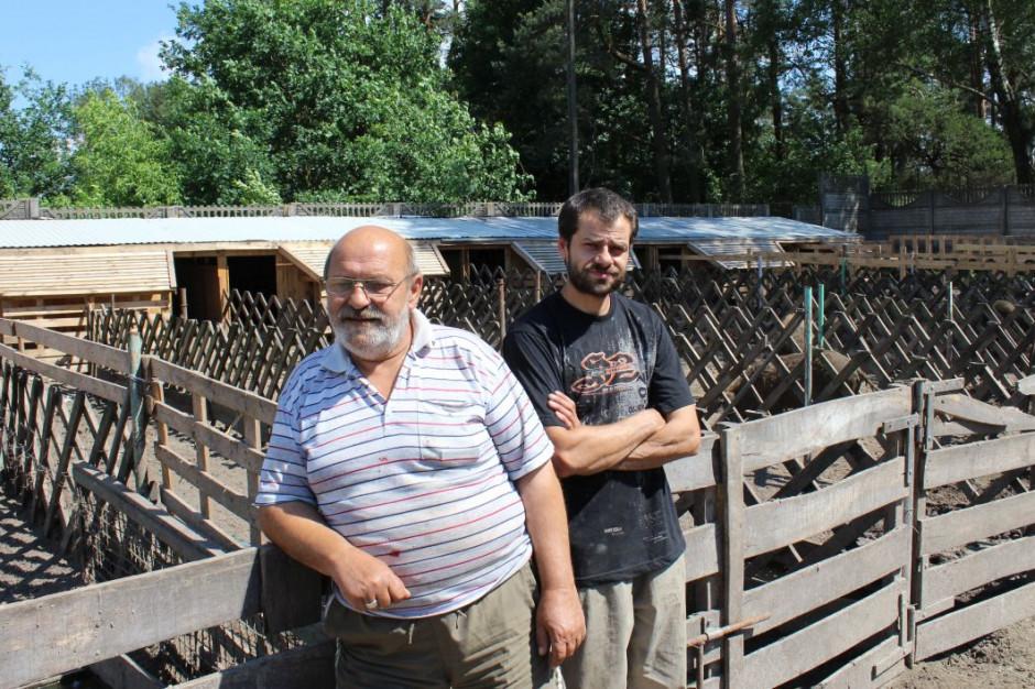 Marek Fronczak z synem Marcinem hodują mangalice od 7 lat, Foto: GT