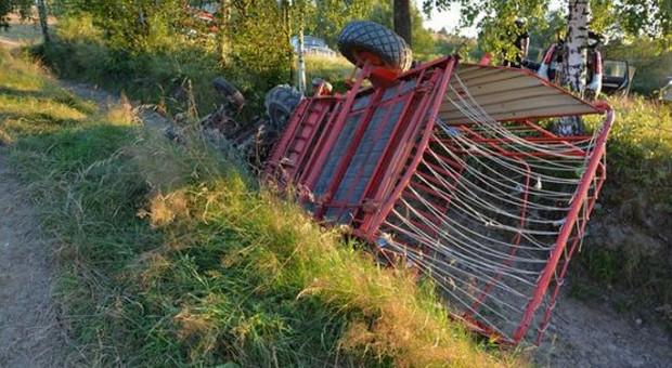 Zginął rolnik przygnieciony przez ciągnik rolniczy