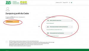 Następnie przechodzimy do rejestracji przy użyciu nr PESEL lub przez Profil Zaufany czy bankowość elektroniczną