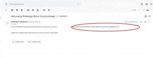 Dodatkowo na adres e-maill wysyłany jest e-mail potwierdzający przyznanie bonu, jego numer oraz instrukcja jak go należy użyć po aktywowaniu. Foto. Radosław Zieniewicz