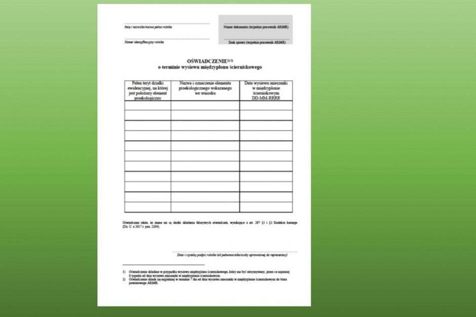 Wypełnione oświadczenie należy złożyć w BP ARiMR