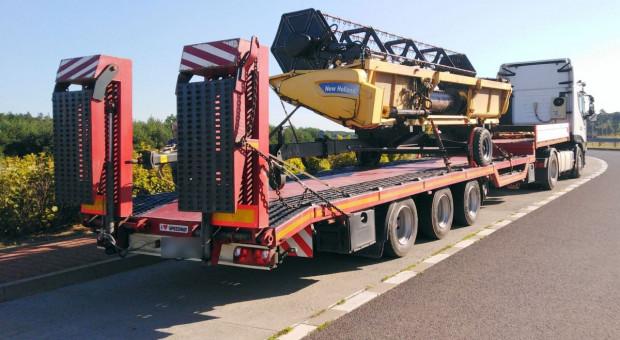Zatrzymane transporty maszyn rolniczych