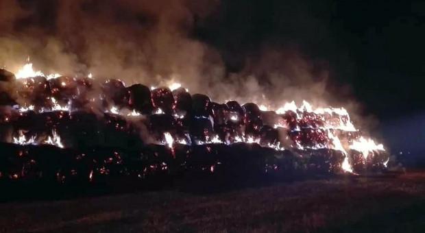 Pożar sterty słomy – winny podpalacz