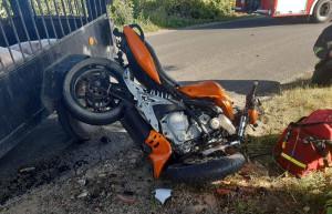 Ranny 25-letni motocyklista trafił do szpitala
