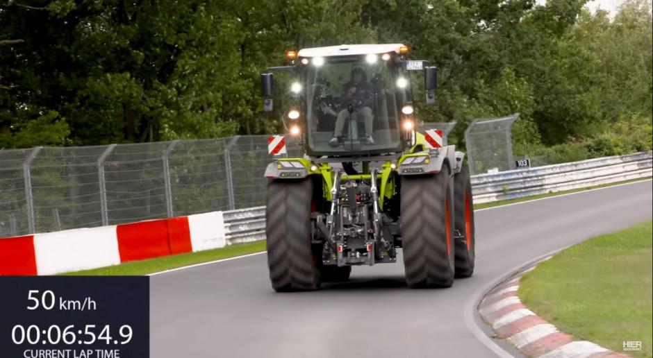 Claas Xerion na torze wyścigowym Nurburgring