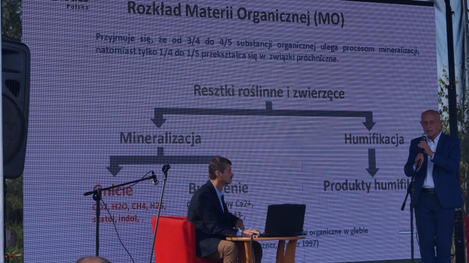 Sławomir Gacka podkreślił, że 3/4 do 4/5 substancji organicznej ulega procesom mineralizacji, a tylko 1/4 do 1/5 przekształca się w związki próchniczne.