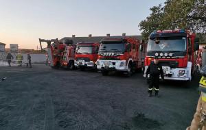 W działaniach ratowniczych uczestniczyło aż 12 zastępów strażaków, Foto: OSP Przysiersk