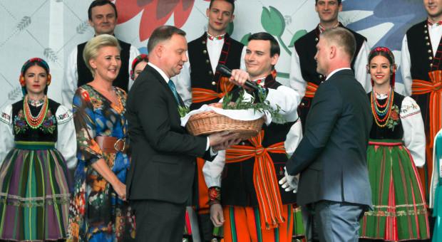 Prezydent: w imieniu całego narodu dziękuję rolnikom za ich wkład w budowanie bezpiecznej Polski