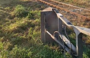 Trasa kolejowa została na ponad godzinę zablokowana, Foto: OSP Zawidz