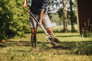 Kolejnym narzędziem, które doskonale sprawdza się  w przekopywania gleby są widły, przystosowane do kopania i rozluźniania gleby. Foto. Fiskars