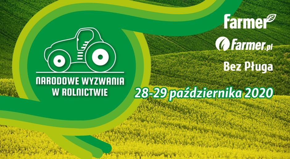 Narodowe Wyzwania w Rolnictwie OnLine: 28-29.10!