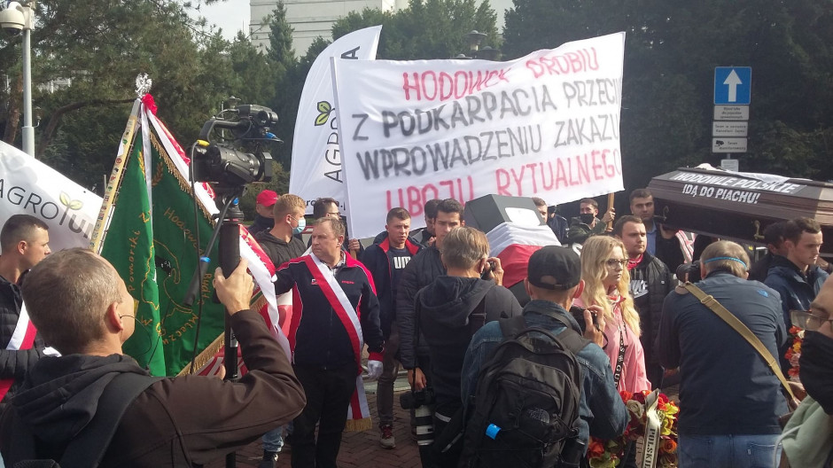 Protest rolników w Warszawie przeciwko tzw.