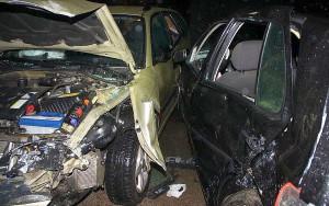 Na skrzyżowaniu zderzyły się trzy samochody, Foto: Policja