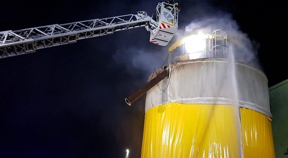 Pożar w suszarni z kukurydzą