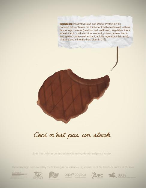 """Kampania """"ceci n'est pas un steak - to nie jest stek"""""""