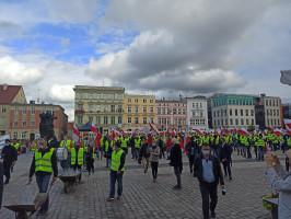 Przemarsz rolników w Bydgoszczy fot. M.Nowacki