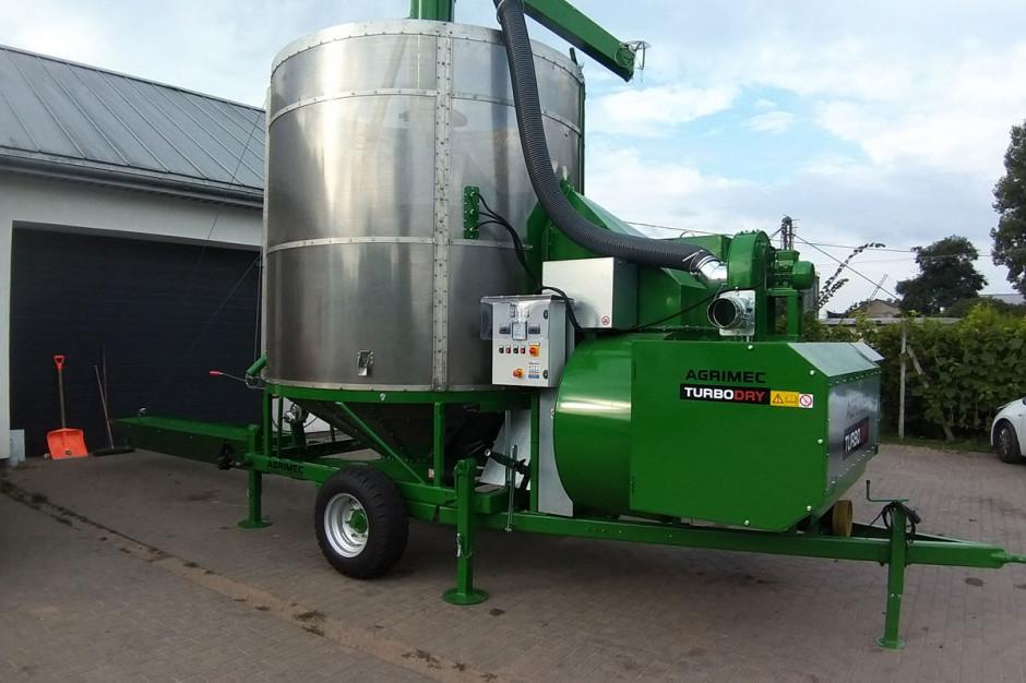 W przypadku suszarni firmy Agrimec średnie zużycie paliwa przy suszeniu kukurydzy wynosi 1,1-1,3  l/tonoprocent