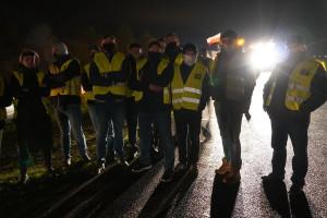 Rolnicy są zdeterminowani. W Międzyrzecu Podl. protestują w dzień i w nocy