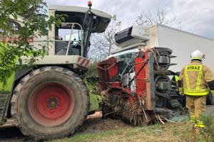 Ciężarówki kontra sieczkarnie – dwa wypadki jednego dnia
