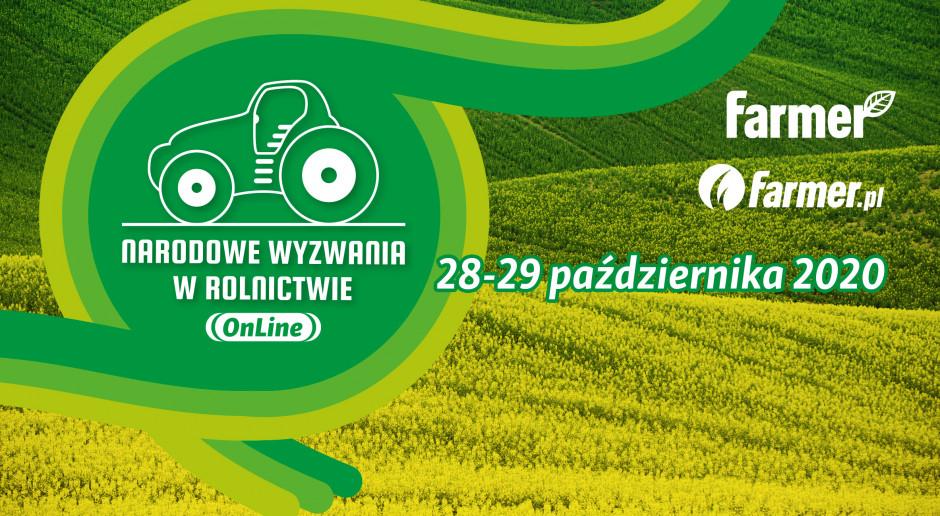 Narodowe Wyzwania w Rolnictwie OnLine już dziś. Zobacz program