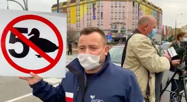 Warszawa: Protest rolników przeciwko nowelizacji ustawy o ochronie zwierząt