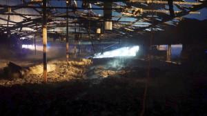W pierwszym kurniku spłonęło 20 tysięcy perliczek,  Foto: PSP Hajnówka