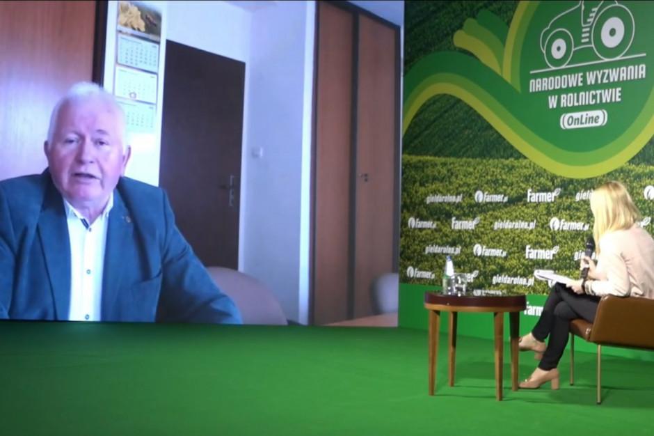 Prof. Marek Mrówczyński podczas tegorocznych Narodowych Wyzwań w Rolnictwie Online Fot. farmer.pl