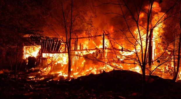 Trzy pożary w jedną noc. Policjanci tropią seryjnego podpalacza gospodarstw