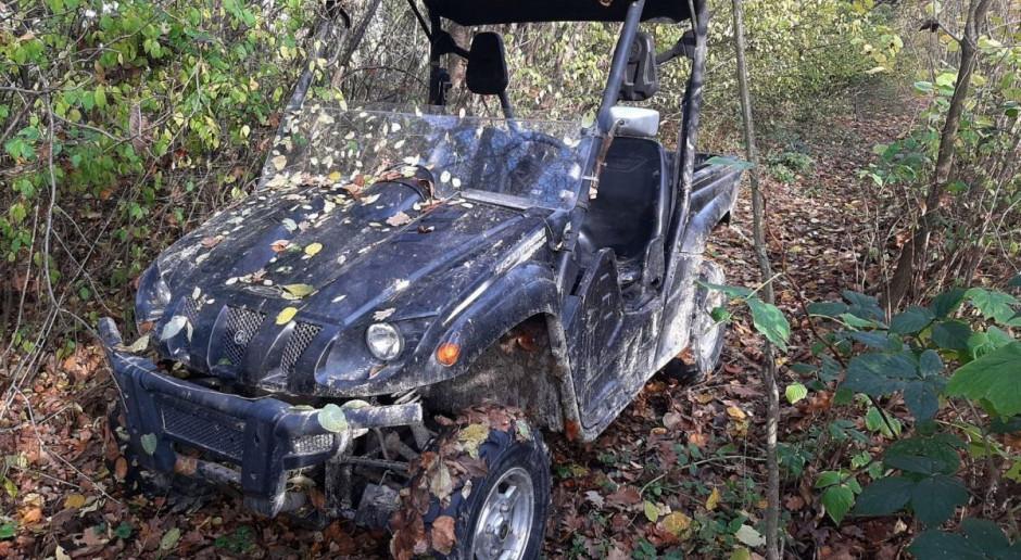 Skradziony quad ukryty w lesie