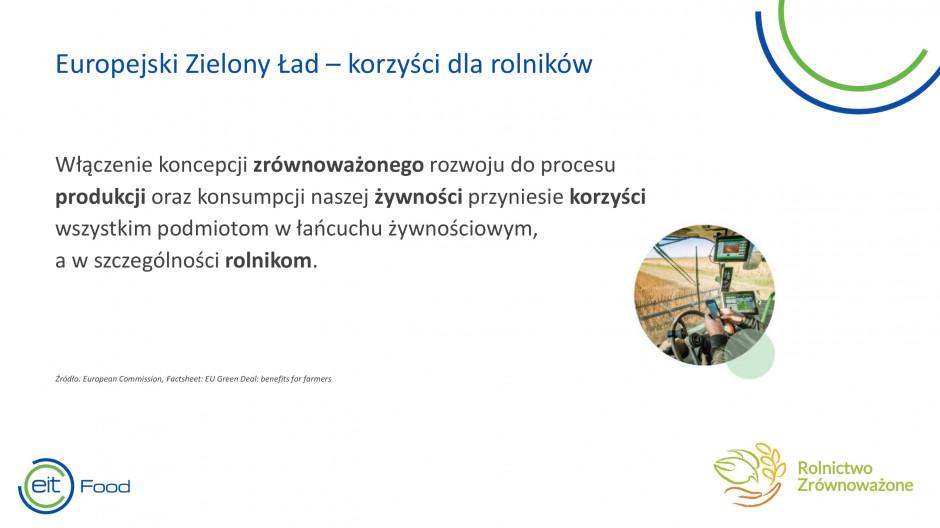 Fragment prezentacji Małgorzaty Bojańczuk, Stowarzyszenie Rolnictwa Zrównoważonego ASAP