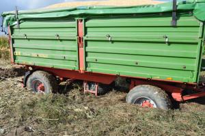Duże opady deszczu wewrześniu ipaździerniku przyczyniły się  dotrudności, zktórymi borykali się rolnicy wtrakcie żniw; Fot. Katarzyna Szulc