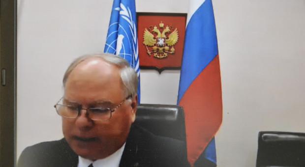 Victor Vasiliev przedstawiciel Federacji Rosyjskiej w FAO wskazywał na znaczenie gleby i konieczność budowania i wzmocnienia świadomości w tym temacie Fot. Katarzyna Szulc