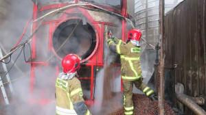W ogniu stanęła suszarnia załadowana kukurydzą, Foto: OSP Sulechów