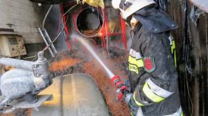 Akcja gaśnicza trwała 6 godzin, Foto: OSP Sulechów