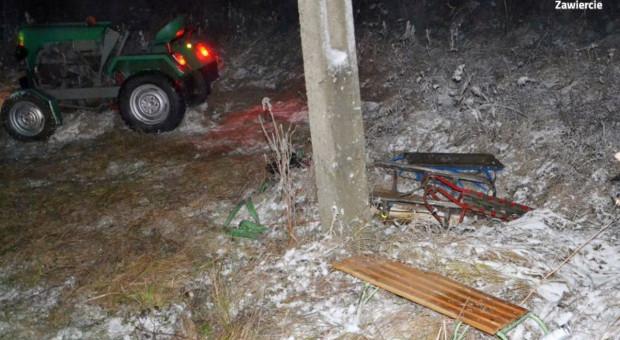 Wypadek na kuligu – mężczyzna przygnieciony traktorem