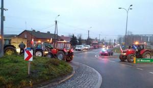 Blokada ronda w Drobinie na Mazowszu, Foto: Nadesłane