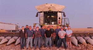 Claas Lexion 8600TT z rekordem zbioru kukurydzy - 184 t ziarna/h