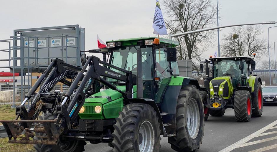 Protest rolników na dk nr 14!