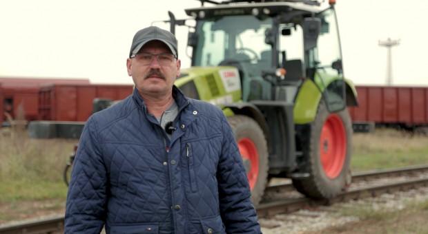 Jerzy Zawiński z firmy ZNTK Paterek podkreśla bardzo wysoką siłę ciągu w ciągniku Claas Arion 610, fot. Claas