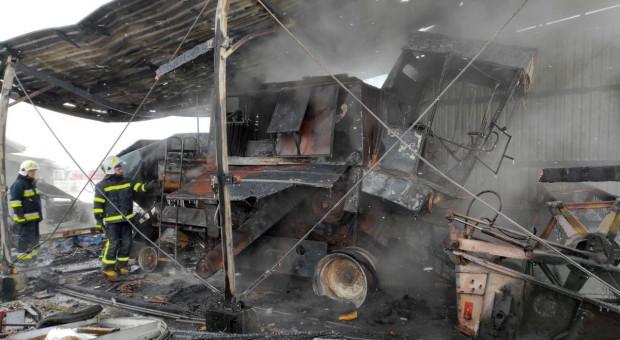 Spawanie zakończone pożarem dwóch garaży