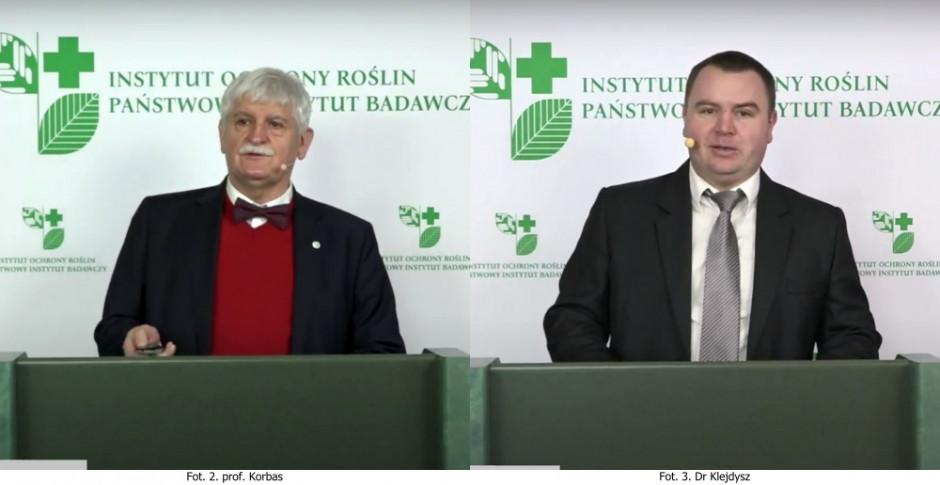 Prof. Marek Korbas (z lewej) oraz dr Tomasz Klejdysz z IOR-PIB w Poznaniu Fot. A. Kobus