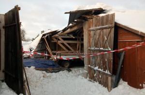 Zawalona stodoła w Okopach, Fot. OSP Suchowola