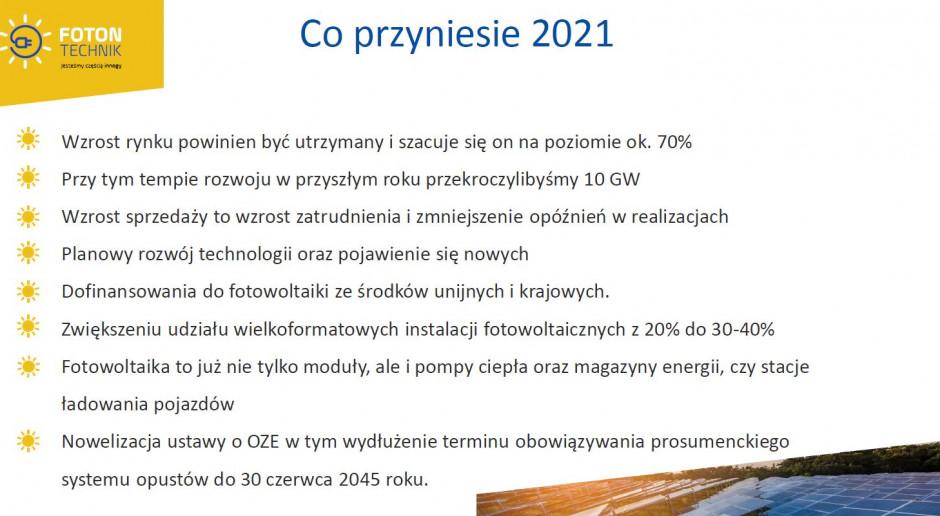 Na konferencji online zorganizowanej przez Foton Technik, uczestnicy próbowali odpowiedzieć na pytanie, co przyniesie rok 2021 dla branży i rynku fotowoltaicznego. Źródło: Foton Technik